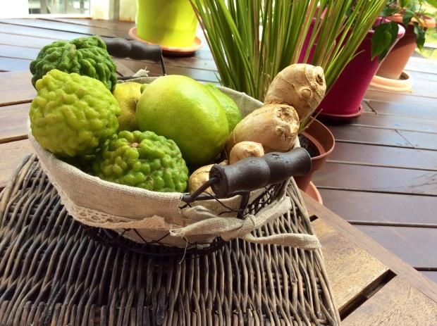 lemon and lime basket