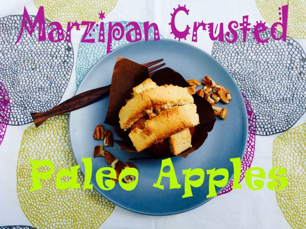 marzipan crusted paleo apple